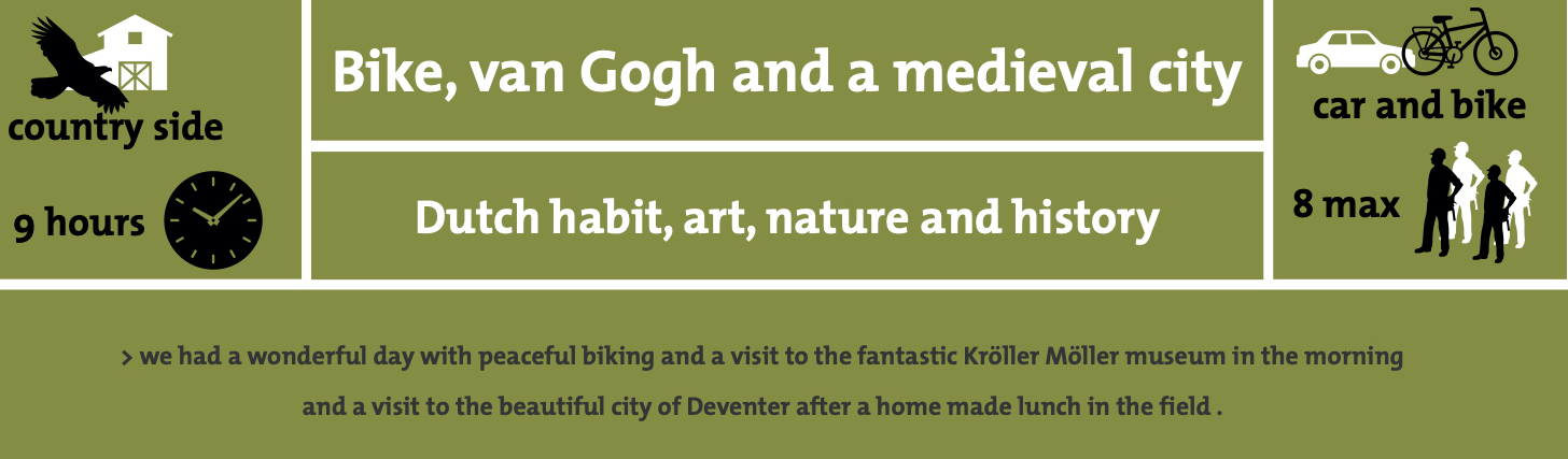 Bike Van Gogh Medieval city
