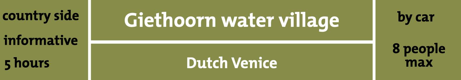 Giethoorn water village
